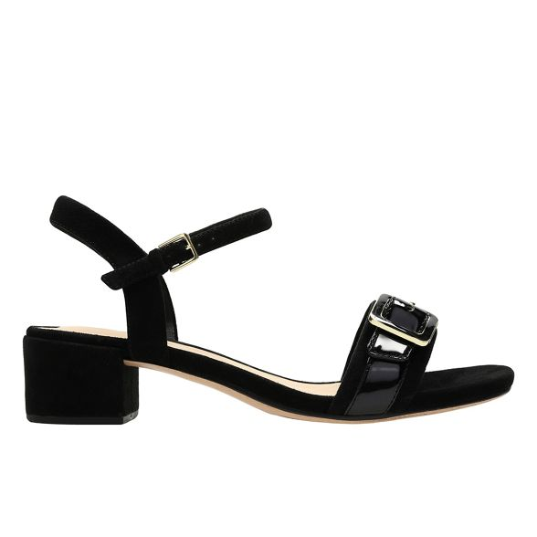 mid Black heel 'Orabella block sandals suede Clarks Shine' TOP4xx