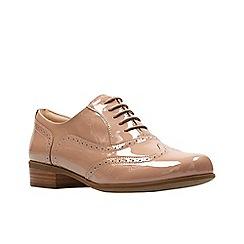 Clarks - Light pink patent leather 'Hamble Oak' brogues