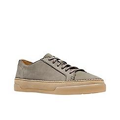 Clarks - Khaki nubuck 'Hidi Holly' lace-up shoes