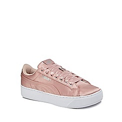 Puma - Pink 'Vikky' mid flatform heel trainers