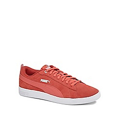 Puma - Coral suede 'Smash' trainers