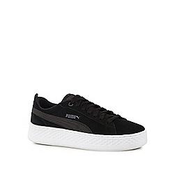Puma - Black suede 'Smash' trainers