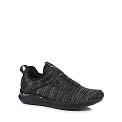 Puma - Black knit 'Ignite Flash' trainers