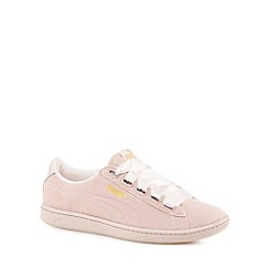 Puma - Pink suede 'Vikky' trainers