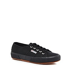 Superga - Black canvas 'Cotu Classic' lace up trainers