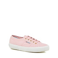 Superga - Pink canvas 'Cotu Classic' lace up trainers