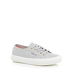 Superga - Light grey canvas 'Cotu Classic' lace up trainers