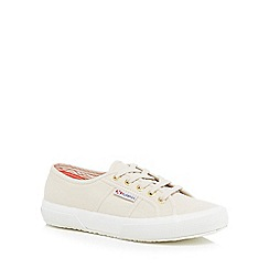 Superga - Natural canvas 'Cotu Classic' lace up trainers