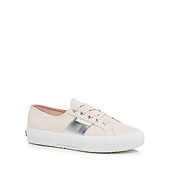 Superga - Light pink 'Pusnakew' lace up trainers