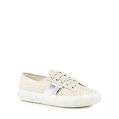 Superga - Cream 'Pusnakew' lace up trainers