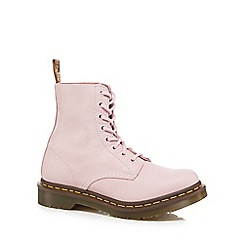 Dr Martens - Pink leather 'Pascal Bubblegum' lace up boots