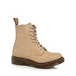 Dr Martens - Nude leather 'Pascal' lace up boots