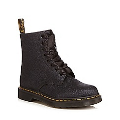 Dr Martens - Black glitter 'Pascal' lace up boots