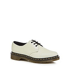 Dr Martens - White '1461 Glitter' lace up shoes