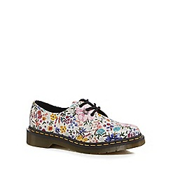 Dr Martens - Multi-coloured leather '1461' floral print lace up shoes