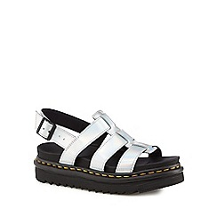 Dr Martens - Silver leather 'Yelena' sandals