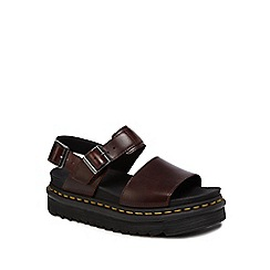 Dr Martens - Dark red leather 'Voss' sandals
