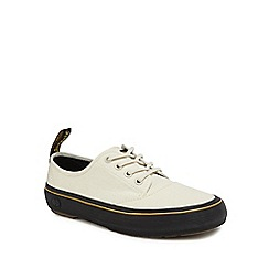 Dr Martens - White canvas 'Jacy' lace up trainers