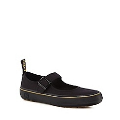 Dr Martens - Black canvas 'Florentia' mary janes