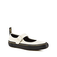 Dr Martens - White canvas 'Florentia' mary janes