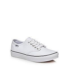 Vans - White 'Camden Stripe' lace up trainers
