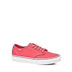 Vans - Pink canvas 'Camden Stripe' lace up trainers