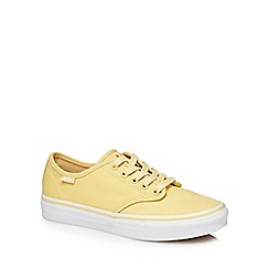 Vans - Yellow 'Camden Stripe' lace up trainers