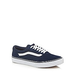 Vans - Navy 'Maddie' lace up trainers