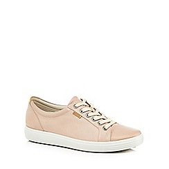 ECCO - Light pink leather 'Soft 7' trainers