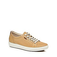 ECCO - Beige leather 'Soft 7' trainers