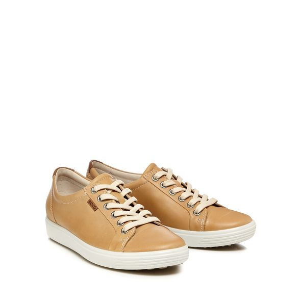Beige 'Soft 7' Ecco trainers leather 64ax4nOp