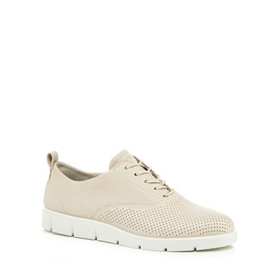 Ecco - Cream leather 'Bella' lace-up shoes
