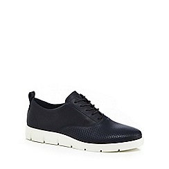 ECCO - Navy leather 'Bella' lace-up shoes