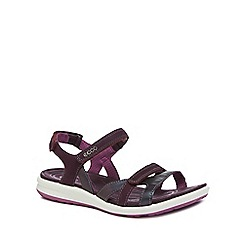 ECCO - Purple leather 'Felicia' sandals