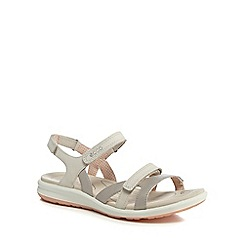 ECCO - Silver leather 'Cruise' sandals