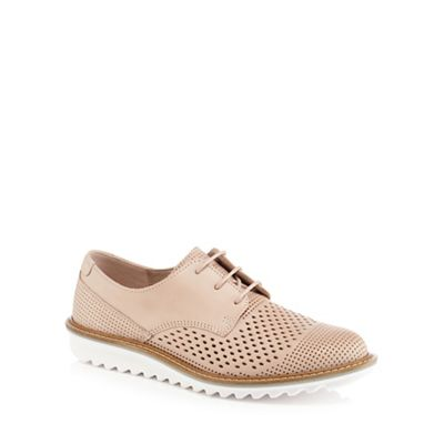 Ecco - Pink leather 'Touch' brogues