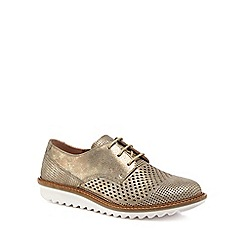 ECCO - Metallic suede 'Touch' brogues