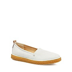 ECCO - White leather 'Crepetray' slip-on trainer