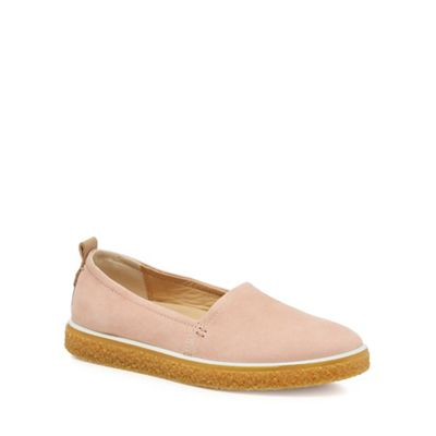 Ecco - Pink Pink Pink nubuck 'Crepetray' slip-on trainer 92a57b
