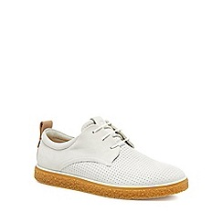 ECCO - White leather 'Crepetray' trainers