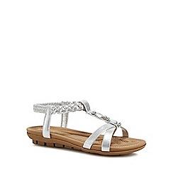 Lotus - Silver metallic 'Roverto' sandals
