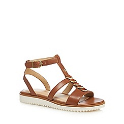 Hush Puppies - Tan leather 'Briard' ankle strap sandals