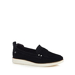 Hush Puppies - Black suede 'Chowchow 3' loafers