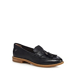 Hush Puppies - Black leather 'Chardon Penny' loafers