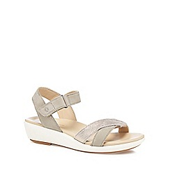 Hush Puppies - Light grey leather 'Lyracale' sandals