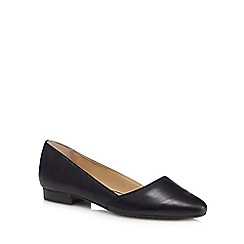 Hush Puppies - Black leather 'Jovanna Phoebe' pumps