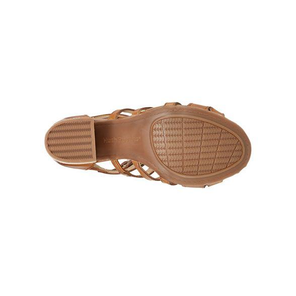 sandals Hush high block toe leather Tan Puppies heel 'Malia' peep qqCTZOxBwz