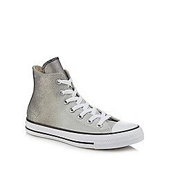 Converse - Metallic glitter 'All Star' hi-top trainers