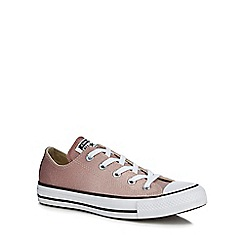 Converse - Pink glitter 'All Star OX' trainers