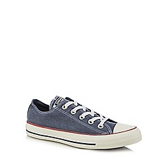 Converse - Navy canvas 'All Star Ox' trainers